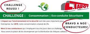 Transports Tarot challenge eco-conduite cheques cadeaux pour les conducteurs