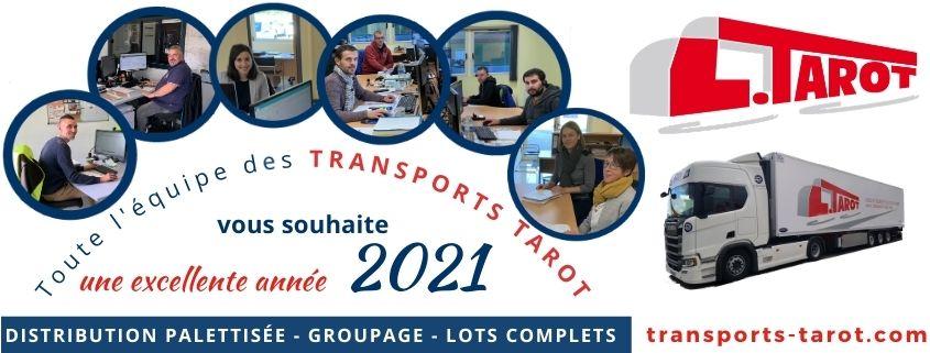 Transports Tarot vous souhaitent une excellente année 2021