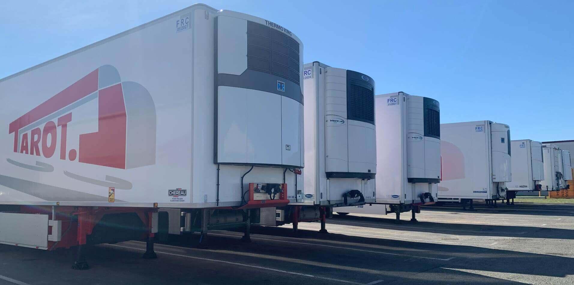 Transports Tarot parc remorques frigorifiques