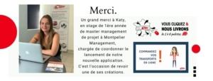 Lancement de l'application transport Vous cliquez Nous livrons par Katy Stagiaire en gestion de projet