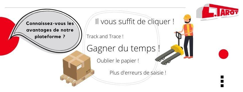 Application commandez votre transport de produits palettisés en ligne