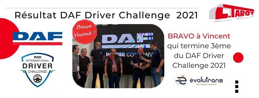 Vincent, conducteur Transports Tarot, termine 3ème au DAF Driver Challenge 2021